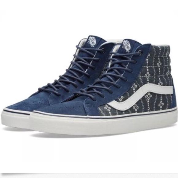 5813e82daf Vans SK8 Hi Reissue MoodIndigo Blanc Shoes